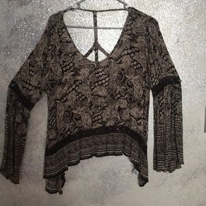 Bell sleeved lace top